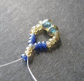 Ажурный браслет из бисера: схема плетения 2