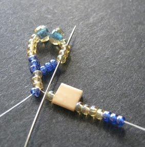 Ажурный браслет из бисера: схема плетения 3