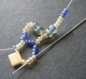 Ажурный браслет из бисера: схема плетения 4