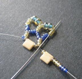 Ажурный браслет из бисера: схема плетения 5