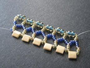 Ажурный браслет из бисера: схема плетения 6