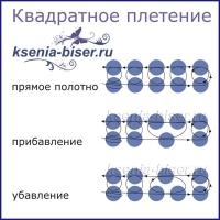 квадратное плетение схема