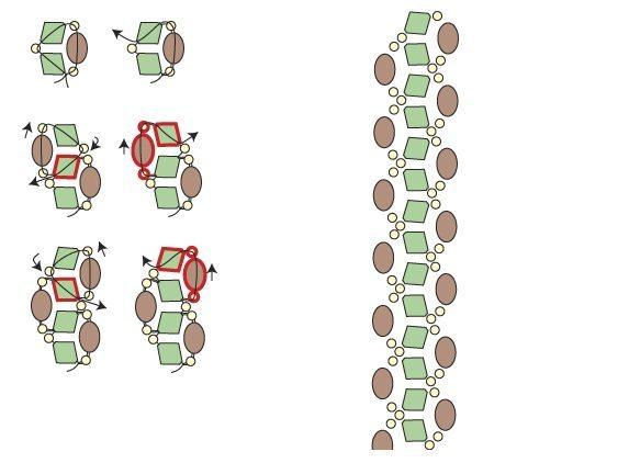 плетение праздничного браслета