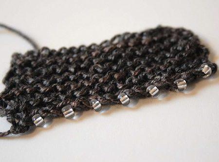 Еще один вариант вязания с бисером