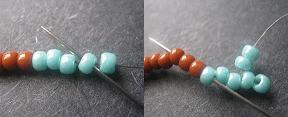 плетем коралловое ожерелье