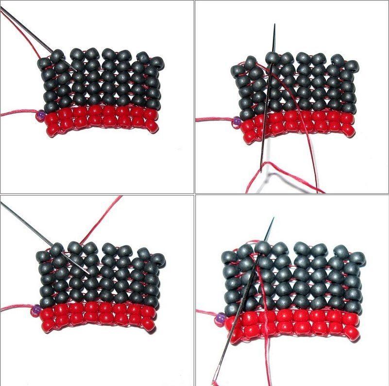 плетение елочное