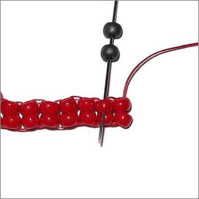 Браслет из бисера с елочным стежком схема плетения