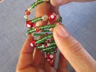 бисероплетение новогодней елочки