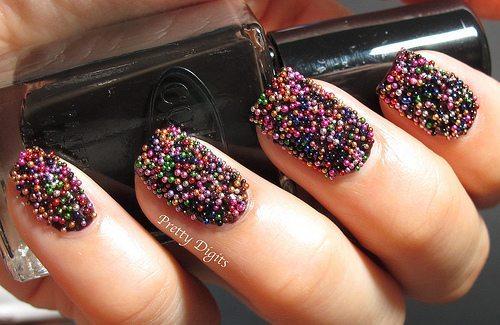бисер для ногтей