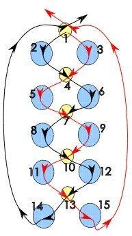 схема плетения брелка из бусин