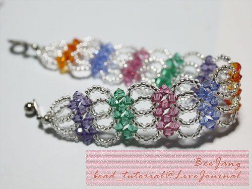Яркий многоуровневый браслет