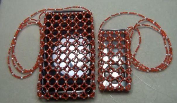 чехол из бисера для мобильного телефона своими руками