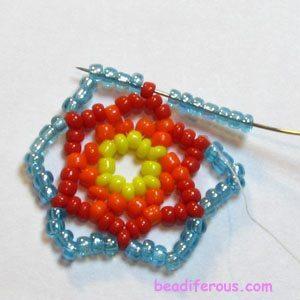 радужные серьги - схема плетения