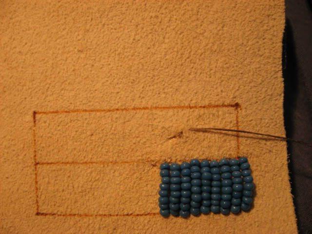 Вышивка бисером как закончить нить 694