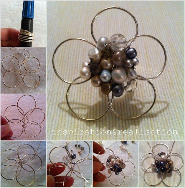 Схема плетения цветов из бисера на проволоке