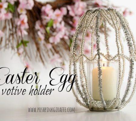 Подсвечник из бисера в форме яйца
