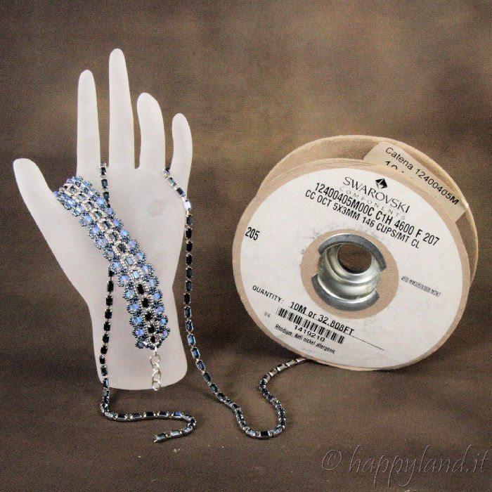Браслет из бисера со стразами: схема плетения