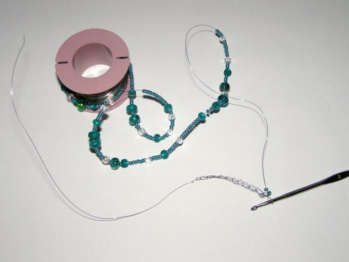 Плетение браслета из проволоки и бисера: мастер-класс 2