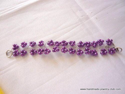 """Браслет """"Виноградная гроздь"""" - схема плетения"""