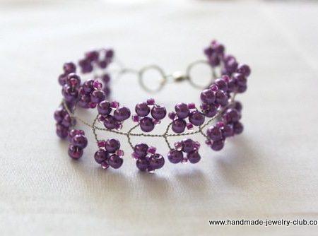 Браслет - Виноградная гроздь