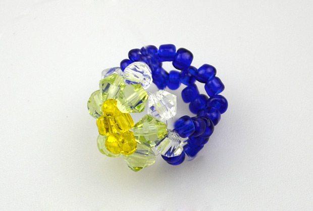 Как сделать кольцо из бисера