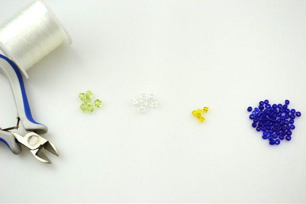 Материалы для плетения кольца из бисера с цветком