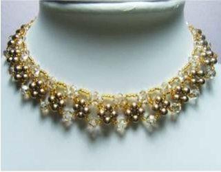 Золотое ожерелье своими руками