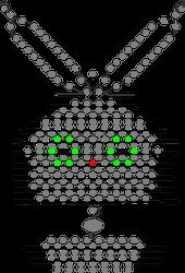 Схема кролика из бисера
