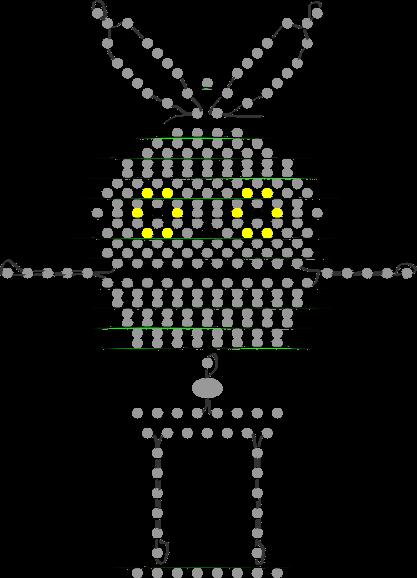 Схема зайчика из бисера