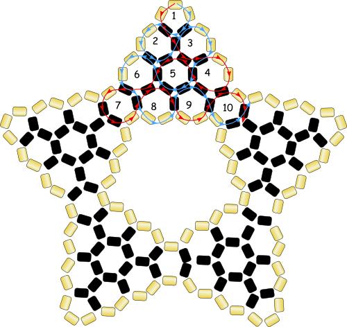 Схема плетения объёмной звезды