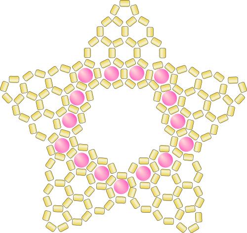Как сплести кулон в форме звезды