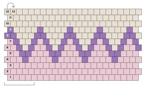 кольцо из бисера - схема плетения 1