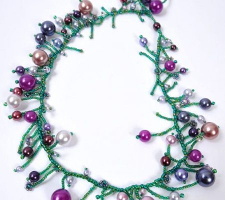 """Ожерелье из бисера """"Новогоднее"""""""