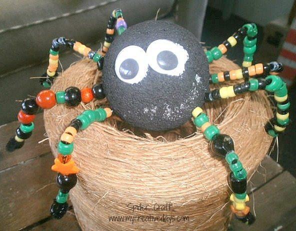 Весёлый паук из бисера
