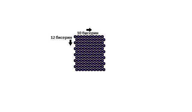 "схема брелока из бисера ""куб"""