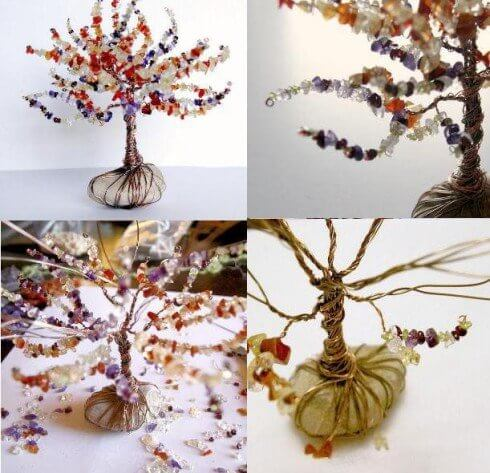 дерево из бисера и проволоки - мастер-класс