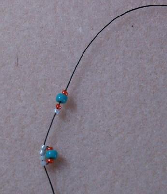 спиральное ожерелье из бисера - мастер-класс