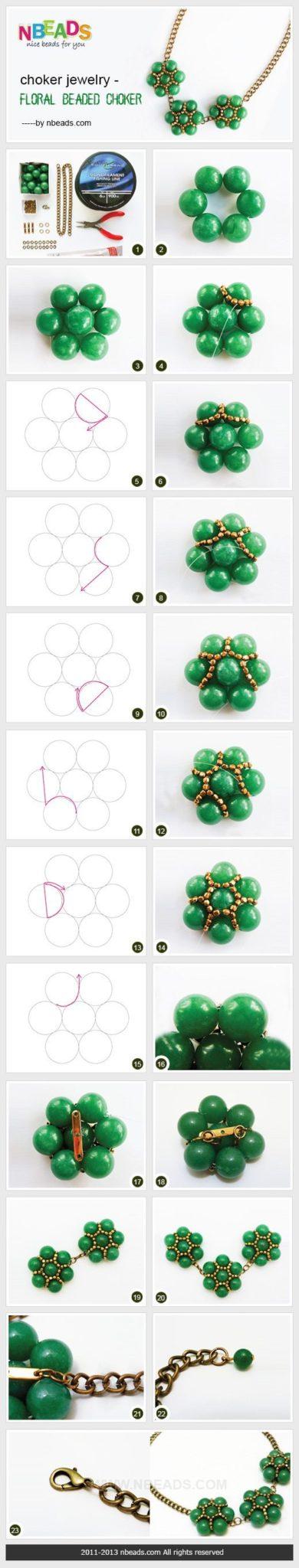 Как сплести ожерелье с цветами