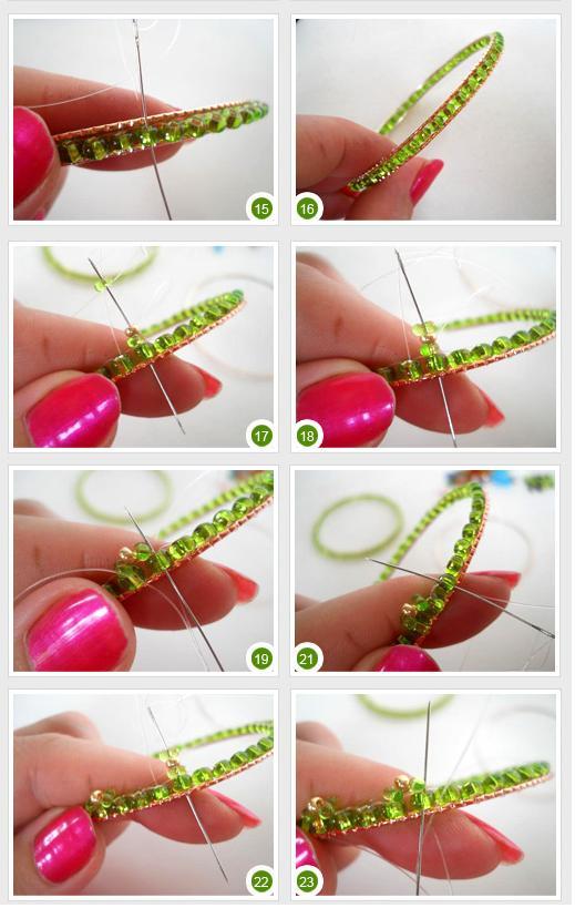 Объёмный браслет из бисера - мастер-класс 1