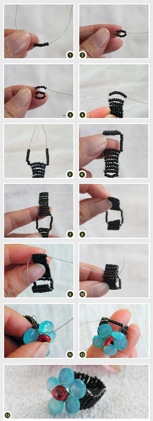 Кольцо из бисера своими руками - мастер-класс