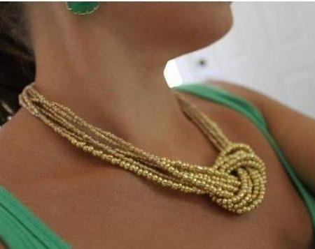 Самое простое ожерелье из бисера