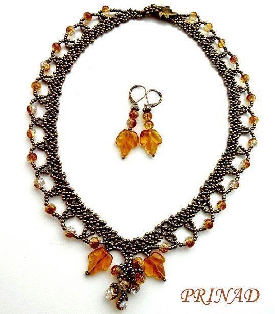 Ожерелье из бисера Осень