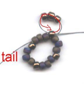 Оригинальный браслет из бисера - мастер-класс