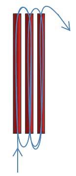 Браслет из длинного стекляруса - схема плетения