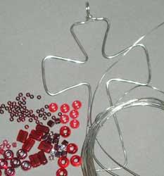 Крестик из бисера - схема плетения 2