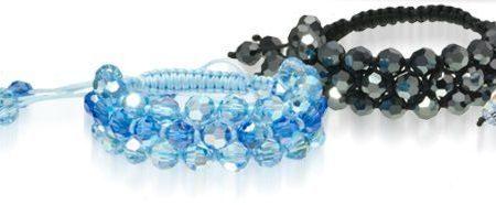 Делаем браслет из бусин Swarovski Crystal