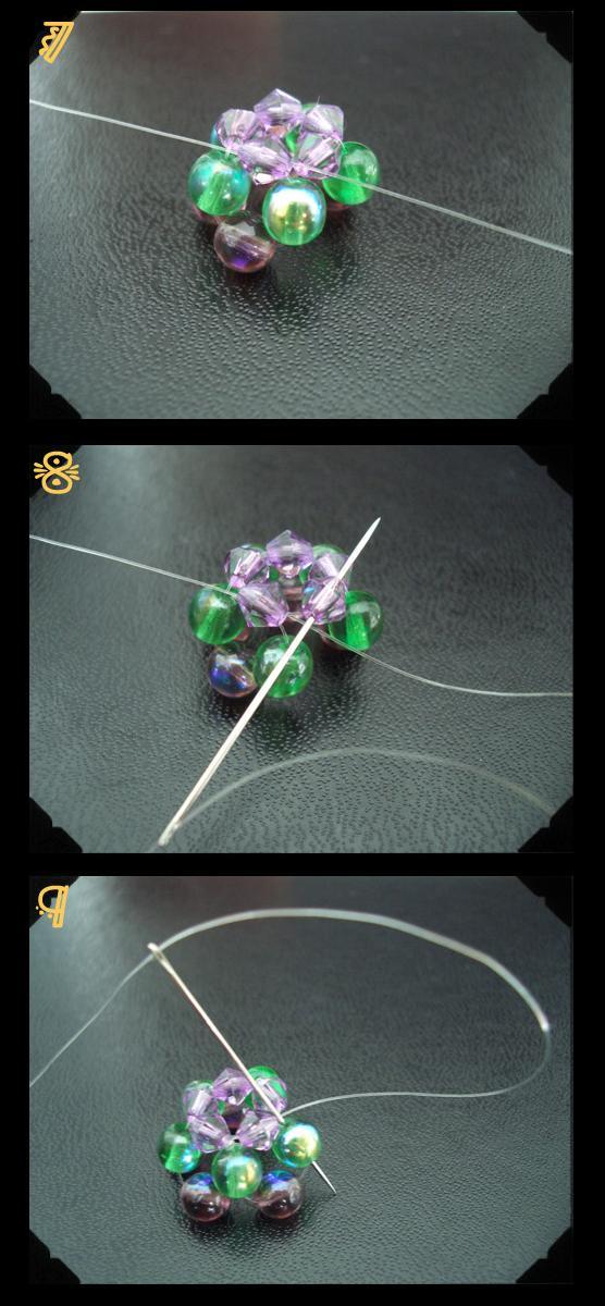 схема плетения цветка из бусин