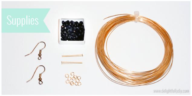 Круглые серьги из бусин - материалы для работы
