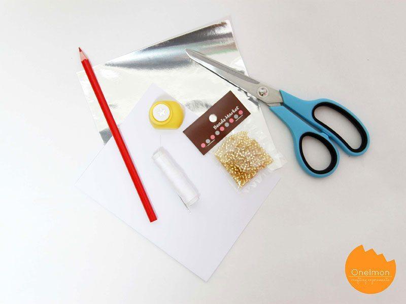открытка из бисера - материалы