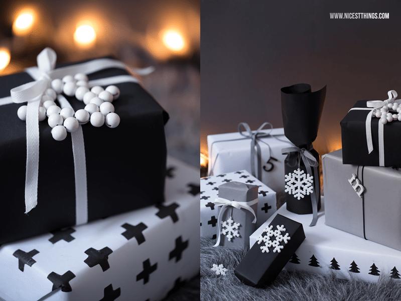 Оформление подарка снежинками из бусин